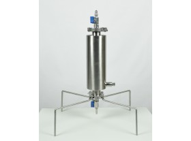 Closed BHO extractor 90g dewaxing column