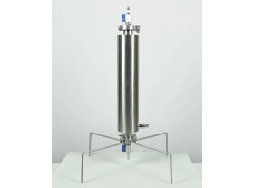 Closed BHO extractor 135g dewaxing column